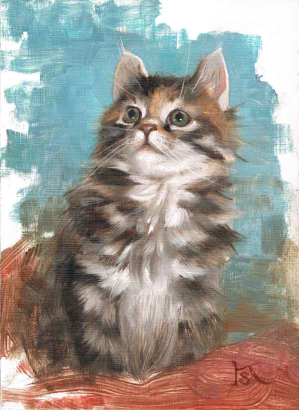 An oil painting of Calina by Kate Stone, a gift from Cailin at Waterlily Siberians, where Calina was born.