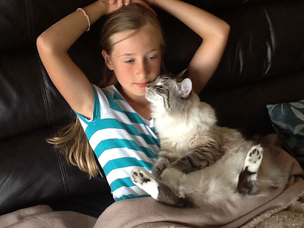 Holly and Siberian kitten Archie