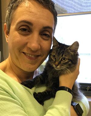 Paula welcomes Suki to her new home, May 2017